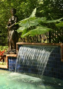 The Stephenses have made major changes to the garden in the five years they have lived in the home, including a kaleidoscope of plants and fountains.